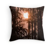 Bamboo silhouette Throw Pillow