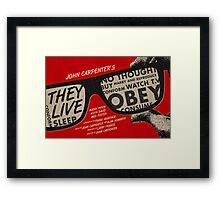 They Live alternative movie poster Framed Print