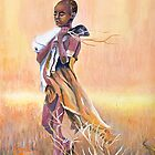 African girl by orna