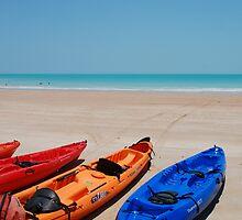 Sea Kayaks on Cable Beach by Matthew Reid