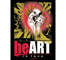 heART is love Photographic Print