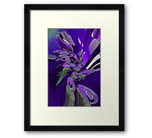 Dizzy purple beer Framed Print