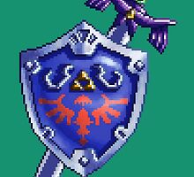 Pixel Sword and Shield by skywaker