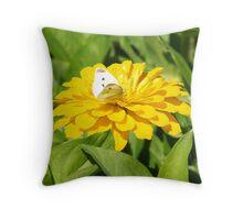 White on Yellow Throw Pillow