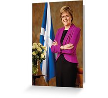 FM Nicola Sturgeon Greeting Card