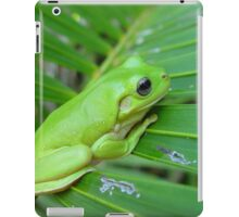 A frog gripping on a palm iPad Case/Skin