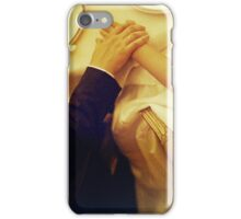 Bride and groom holding hands in wedding marriage banquet analog 35mm film photo iPhone Case/Skin