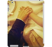Bride and groom holding hands in wedding marriage banquet analog 35mm film photo iPad Case/Skin