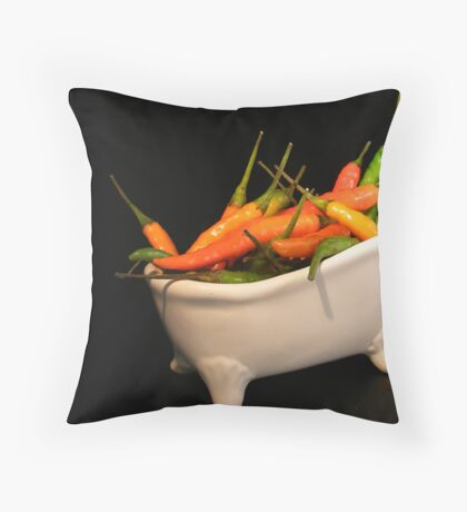 Hotties in a tub... Throw Pillow