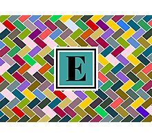 E Monogram Photographic Print