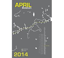 Boston Marathon Map 2014 Photographic Print