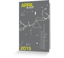 Boston Marathon 2015 Greeting Card