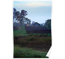 Countryscape in Morning Poster