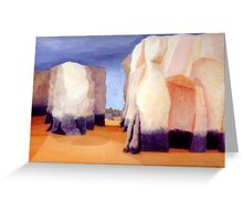 Gap in the Rocks Greeting Card