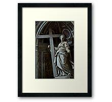 Mary bears a Cross Framed Print