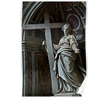 Mary bears a Cross Poster
