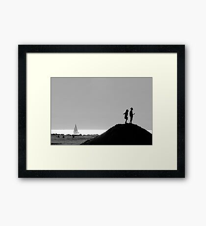 Two in Venice Framed Print