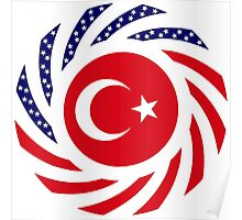 Turkish American Multinational Patriot Flag Series Poster