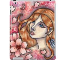 Mono no Aware - Girl with Cherry Blossoms iPad Case/Skin