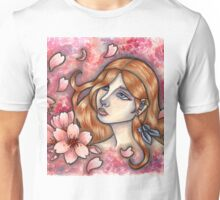 Mono no Aware - Girl with Cherry Blossoms Unisex T-Shirt
