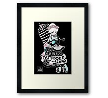 Tattooed Beauty Framed Print