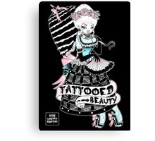 Tattooed Beauty Canvas Print