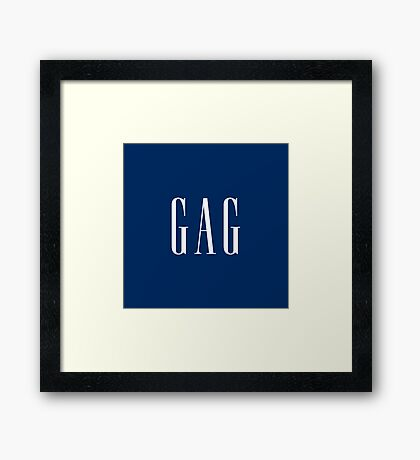 """GAG"" DESIGN Framed Print"