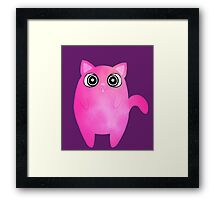 Tubby Pink Cat Framed Print