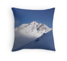 Mountain before sunset. Throw Pillow