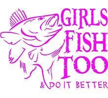 GIRLS FISH TOO - WALLEYE Photographic Print