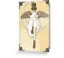 Lunar Steampunk Greeting Card