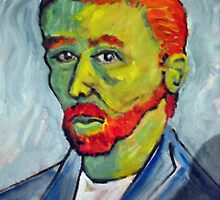 Portrait of Vincent Van Gogh by Richard  Tuvey
