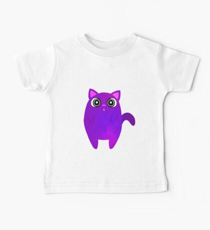 Tubby Violet Cat Baby Tee