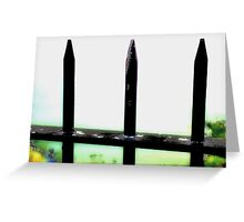 Abstract Railings Greeting Card