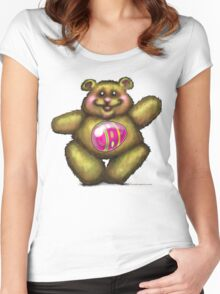 Easter Bear Women's Fitted Scoop T-Shirt