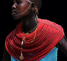 SAMBURU LADY - KENYA  by Michael Sheridan