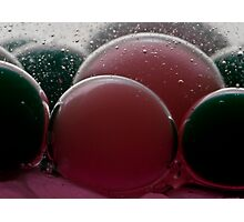 red bubble green bubble Photographic Print