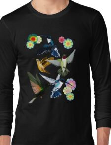 For The Love Of Hummingbirds Long Sleeve T-Shirt