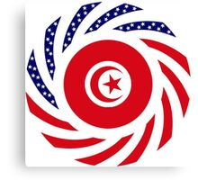 Tunisian American Multinational Patriot Flag Series Canvas Print