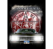 Supernatural Theme Car Photographic Print