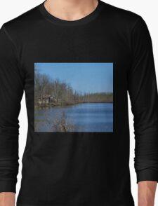 Mississippi River stilt house ghost town T-Shirt
