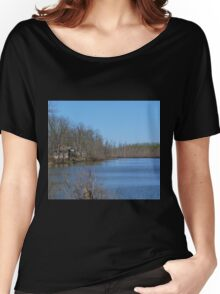Mississippi River stilt house ghost town Women's Relaxed Fit T-Shirt