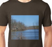 Mississippi River stilt house ghost town Unisex T-Shirt