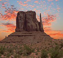 Monument Valley Sunrise by Kent Burton