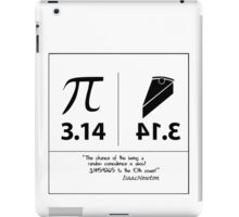 The odds of Pi...according to Isaac Newton! iPad Case/Skin