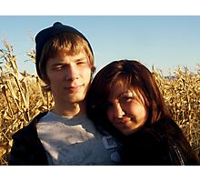 Love In The Corn Fields Photographic Print