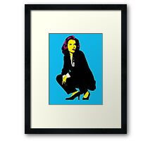 Scully x files Framed Print