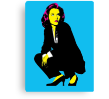 Scully x files Canvas Print
