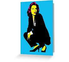 Scully x files Greeting Card