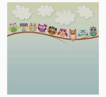 Cute Owls on a Branch T-Shirt